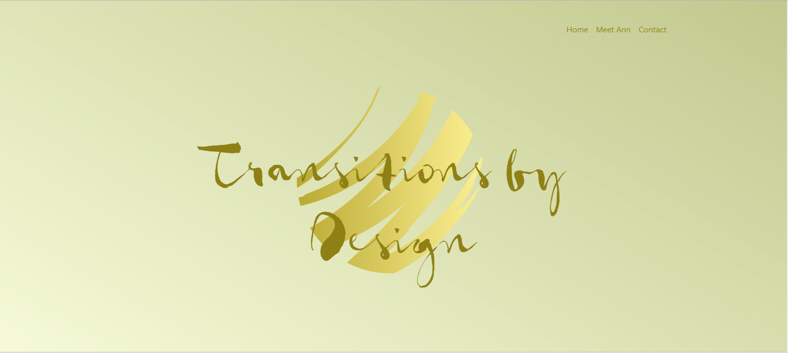 screen shot of the header for Transitionsbydesign.net