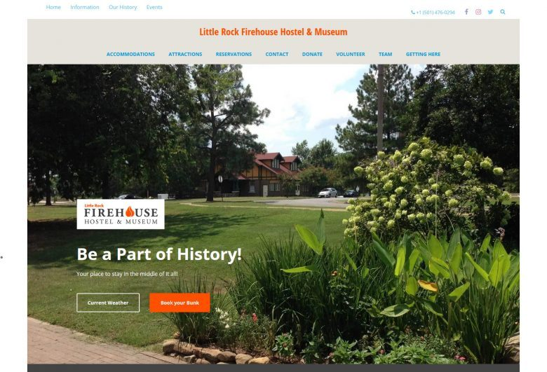header image in a slideshow for the Firehouse Hostel and Museum, Little Rock, Arkansas